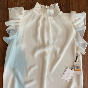 1. State Women's Off White Short Sleeve Blouse